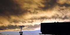 Whispy Mammatus clouds (SnapShotStar) Tags: sunset sky orange cloud storm clouds horizon arkansas storms orangeskies nowthatssky thecloudappreciationsociety 10millionphotos
