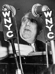 President Franklin D. Roosevelt speaking over WNYC, 1938. (La Guardia and Wagner Archives) Tags: laguardia fdr fiorellolaguardia franklindroosevelt fiorello thelittleflower mayorlaguardia