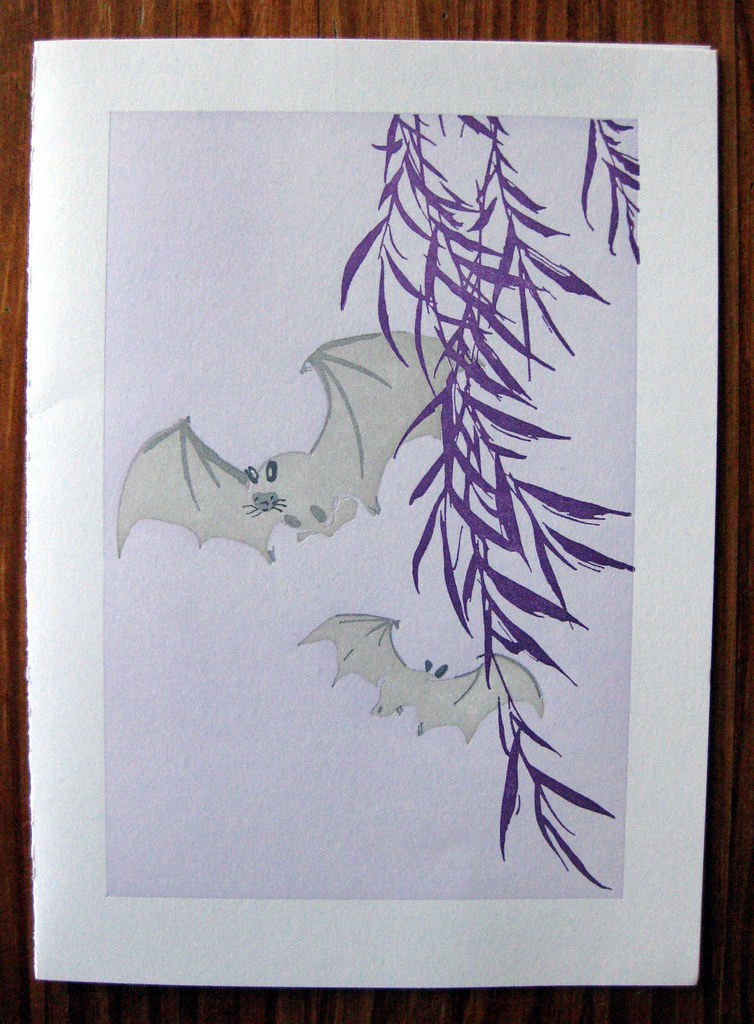 Bat night card