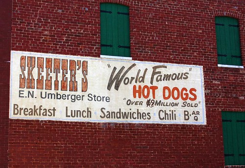 burgers and hot dogs. Burgers . . . no, HOT DOGS