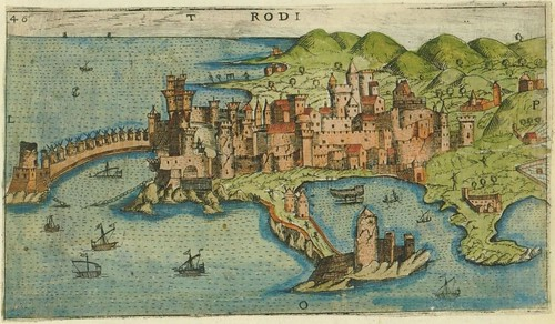 Rodi - map of Rhodes