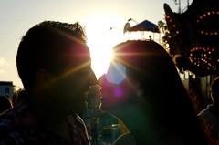 誓いのキスをする二人
