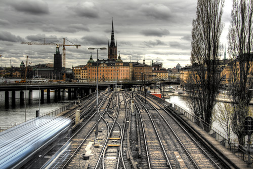 Stockholm. Over the railroads. Estocolmo. Sobre las vías
