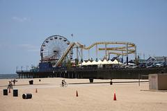 Santa Monica Pier 3 (Helena Pugsley) Tags: california sea beach coast pier losangeles seaside santamonicapier santamonicabeach 2010