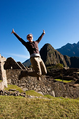 jumping over huayna picchu (truello) Tags: peru southamerica machu picchu inca jumping inka machupicchu angela sacredvalley aguascalientes huayna vallesagrado lostcityoftheincas machupicchupueblo truello peru2010 lacuidadperdidadelosincas