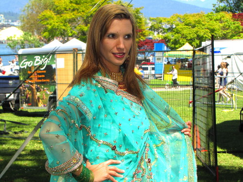 Sawan Mela South Asian Summer Festival, traditional Indian sari wedding gown