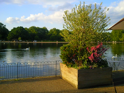 View from Serpentine Lido Cafe, Hyde Park, London
