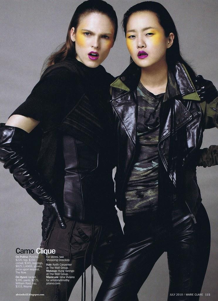 Hyoni Kang & Polina Sova - US Marie Claire July 2010 - 8