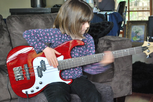 Maeve's New Bass Guitar 3/4