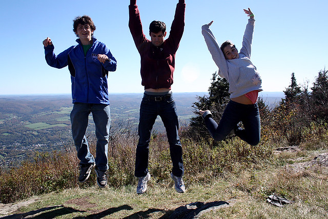 max + eric + emma at the top of mount greylock