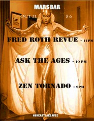 Fred Roth Revue Mars Bar Poster (fredroth) Tags: orange color with nothing naranja rhymes blorenge rhymeswithorange netneutrality matters2me anathemrecords fredrothrevuemusicpostersconcertsstormtrooperthecomettavernmarsbarhighdiveseattlelive