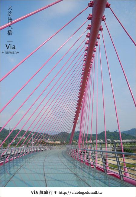 【大坑情人橋】新的台中約會景點~浪漫粉紅色情人橋15