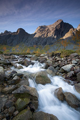 Beautiful Norway (Chee Seong) Tags: autumn light sky mountain tree water colors norway rock clouds canon circle landscape scenery stream long exposure afternoon hill arctic filter lee nd tromsø gnd grøtfjord canon1740mm 3stops 5dm2