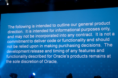 Safe Harbor Statements, JavaOne Keynote, JavaOne + Develop 2010 San Francisco