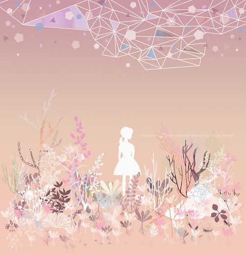 girl in the wild garden