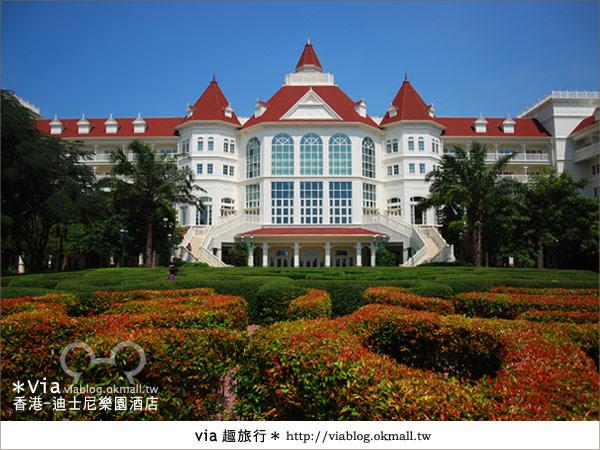 【香港住宿】跟著via玩香港(4)~迪士尼樂園酒店(外觀、房間篇)6