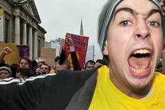 Students' protest, Dublin 3 Nov 2010  (1) (Tom Szustek) Tags: ireland dublin photography march student photographie protest irland demonstration crisis irlanda unemployment irlande recession crise kryzys irlandia chmage economicgrowth recesja croissanceconomique