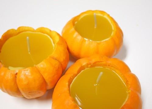 Wax filled pumpkins