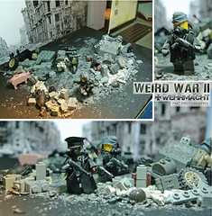WEIRD WAR II German behind the scenes (Shobrick) Tags: city set weird amazing ruins war lego mask nazi apocalypse gaz ashes ii german tiny pistol mp behind tt ww custom armory scenes making tactical wehrmacht brickarms shobrick weopn