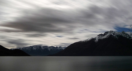 Lake Wakatipu by night