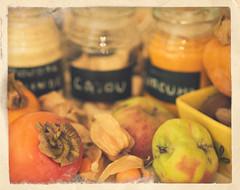 312/365 La cuisine en automne (aSeed) Tags: texture apple kitchen fruits cuisine nikon postcard flash sb600 85mm spices frame 365 persimmon textured pomme epices kaki physalis d80 strobist fruiy