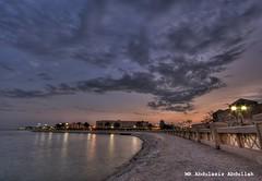 HDR (alkhobar beach) (MR.Abdulaziz Abdullah AL-S) Tags: beach clouds canon landscape corniche saudi arabia eastern hdr province xsi   alkhobar        450d