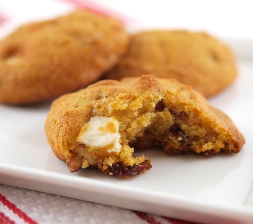 White Chocolate, Cranberry, Pecan, and Sweet Potato Cookies