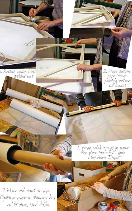 How to roll a canvas painting