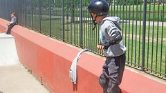 Skateboarding Park (soniaadammurray - Off) Tags: digitalphotography fence skateboardingpark children grass park skateboarders hff play