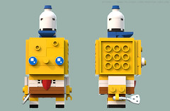 BrickHeadz: SpongeBob SquarePants (Unijob Lindo) Tags: lego leg godt spongebob squarepants sponge bob squidward tentacles competition brickset brickheadz brick headz bricks cartoon nickelodeon ldd digital designer blue render bluerender patrick star schwammkopf tadeus tentakel thaddaus thaddäus thaddeus tennisballs tortellini nick mr krabs contest funko funkopop pop culture collectibles klocki yellow slope slopes snot studs top spatula clarinet nose squid goggly eyes heads tiny small krusty krab