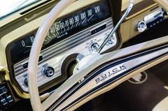 Buick Power Steering (GmanViz) Tags: gmanviz color car automobile detail chrome nikon d7000 1962 buick special steeringwheel dashboard speedometer gearshift selector
