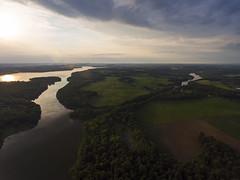 Crossed (Matt Champlin) Tags: cny crosslake aerial summer beautiful weekend friday tgif drone drones dji djiphantom4 phantom4 fishing boat boating pristine sunset river seneca