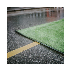 Astroturfed (Baipin) Tags: canada day 150 150th confederation city urban path astro wash rain asphaltroadyellowline blockcolour rothko rollei lndont cbc road streetphoto street photography protest turf film analog rolleiflex 35b gift reddit know