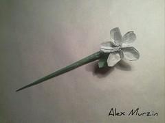 "Hairpin ""Flower"" Designed by Alex Murzin. (alexmur474) Tags: origamihairpinflower origami hairpin flower"