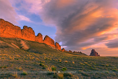 Shiprock - New Mexico - USA (~ Floydian ~ ) Tags: henkmeijer floydian photography shiprock newmexico landmark icon iconic unitedstates american southwest desert sunrise morning dawn landscape landscapes lavawall lavawalls navajonation fourcorners color colour colourful colorful clouds canon canon5dmarkiv leefilters