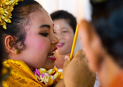 Teenage girl looking at her new teeth in a mirror during the the tooth filing ceremony, Bali island, Canggu, Indonesia (Eric Lafforgue) Tags: adults anxiety asia asian bali bali2535 balinese beliefs canggu ceremony clothing colorimage customs dentist filing headshot headwear hindu hinduism horizontal incisor indigenouspeople indonesia indonesian indonesianculture manusa mesangih mirror pain painful painfully realpeople rite riteofpassage rites ritual spiritual teeth tooth tradition traditional traveldestination womenonly baliisland