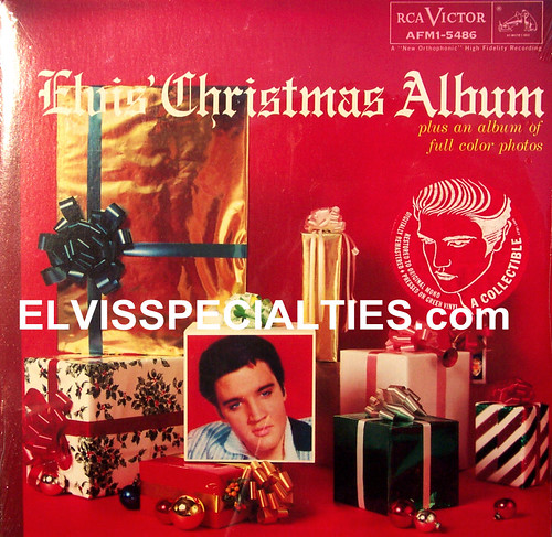 Elvis Christmas Album (Green Vinyl)  Front Cover