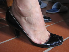 dirty and smelly open pumps (al_garcia) Tags: feet high sandals heel smelly