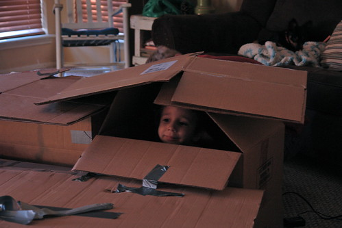 Boxes + Duct Tape = Boy Heaven