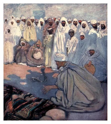 040-Encantador de serpientes en Marruecos-Morocco 1904- Ilustraciones de A.S. Forrest