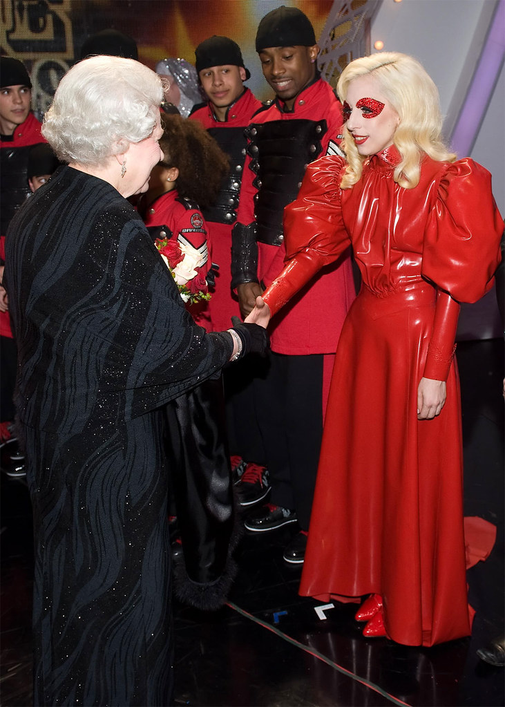 Lady Gaga red The Queen