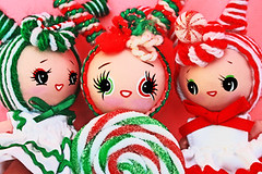 Pepper, Swirl and Candy (boopsie.daisy) Tags: christmas pink winter girls friends red white holiday green girl fun doll dolls candy ooak mint fresh swirl candycane peppermint boopsiedaisy