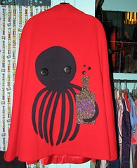 drinkinest octopus cape (~aorta~) Tags: red vintage octopus cape applique apparel aorta drinkingdec4
