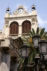 Catania, Piazza Stesicoro, Palazzo Tezzano, Uhrturm (clock tower) (HEN-Magonza) Tags: italien italy italia palace clocktower sicily baroque barock palast catania sicilia piazzastesicoro sizilien uhrturm palazzotezzano tezzanopalace