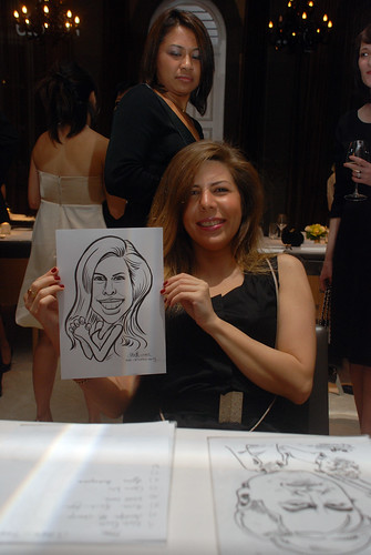 Caricature live sketching for AMEC Party - 6