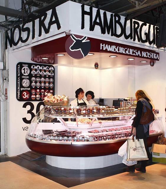 Hamburguesa Nostra en el Mercado de la Paz