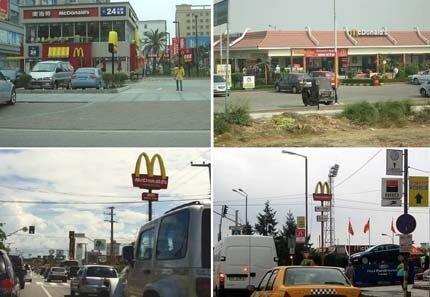 McDonald's in China, India, Brazil & Romania (courtesy of Michael Mehaffy)