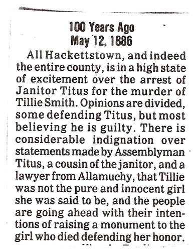 100 Years Ago - Indignation over statements made by Assemblyman titus