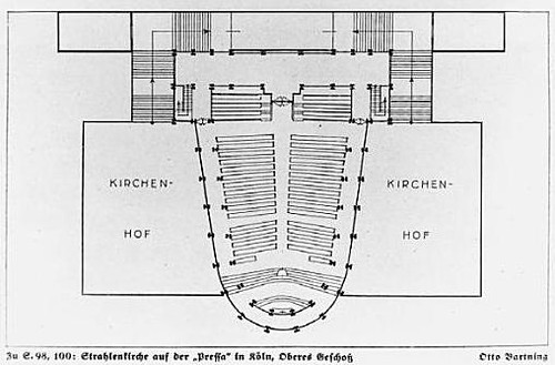 Plan Stahlkirche