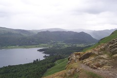 View from Cat Bells (Rovers number 9) Tags: uk england mountains water weather landscape lakes hills derwentwater catbells englishlakes